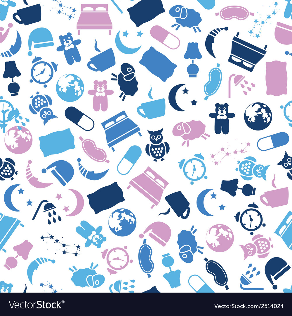 Sleep seamless pattern vector | Price: 1 Credit (USD $1)