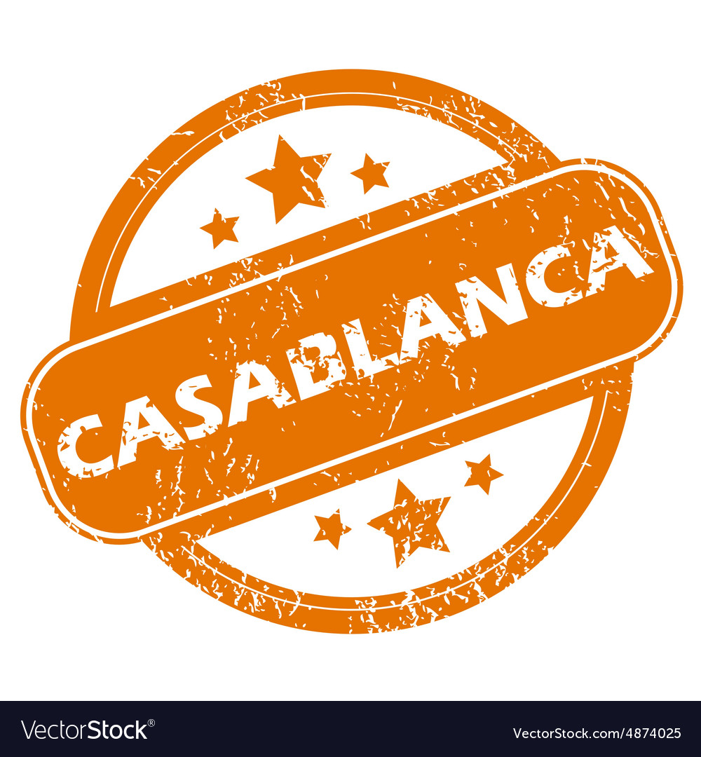 Casablanca round stamp vector