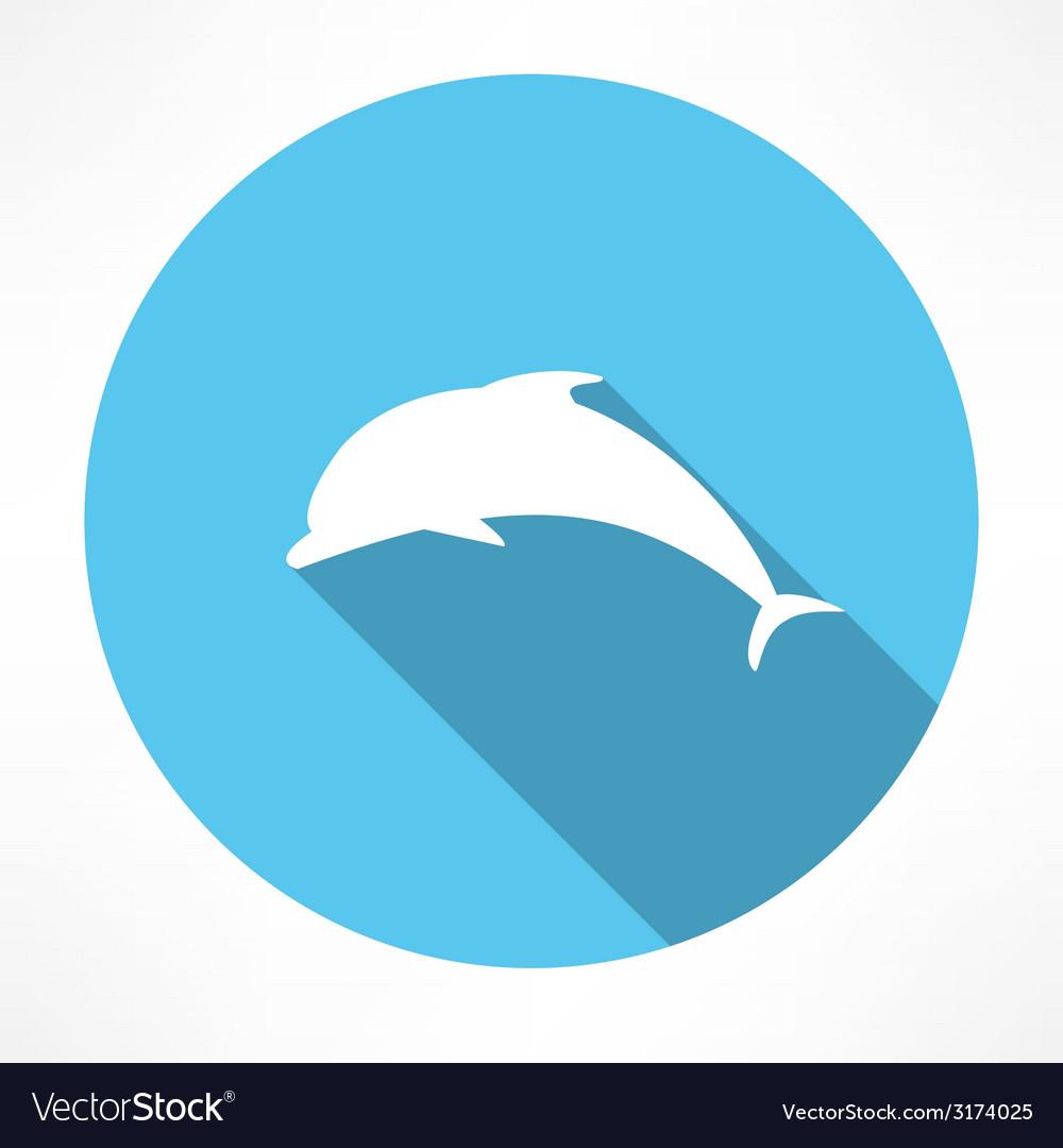 Dolphin icon vector | Price: 1 Credit (USD $1)