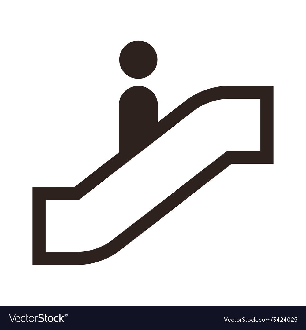 Escalator icon vector | Price: 1 Credit (USD $1)