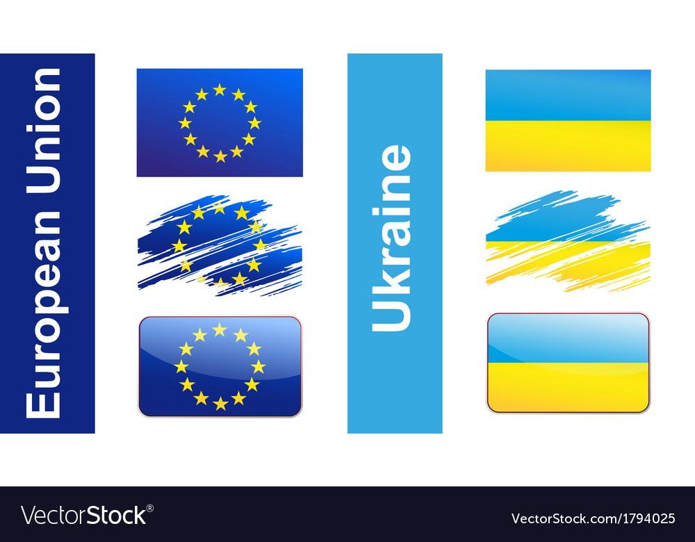 Flag ukraine eu vector   Price: 1 Credit (USD $1)