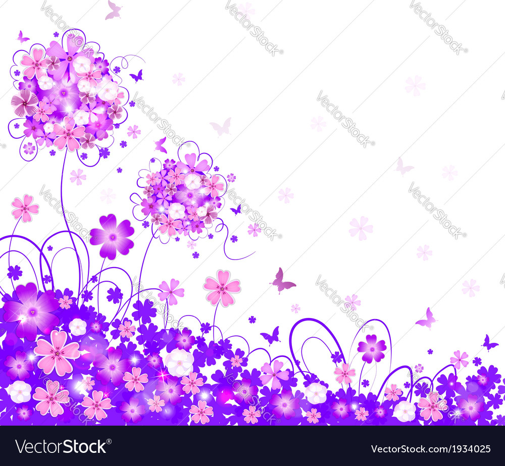 Floral lilac background vector | Price: 1 Credit (USD $1)