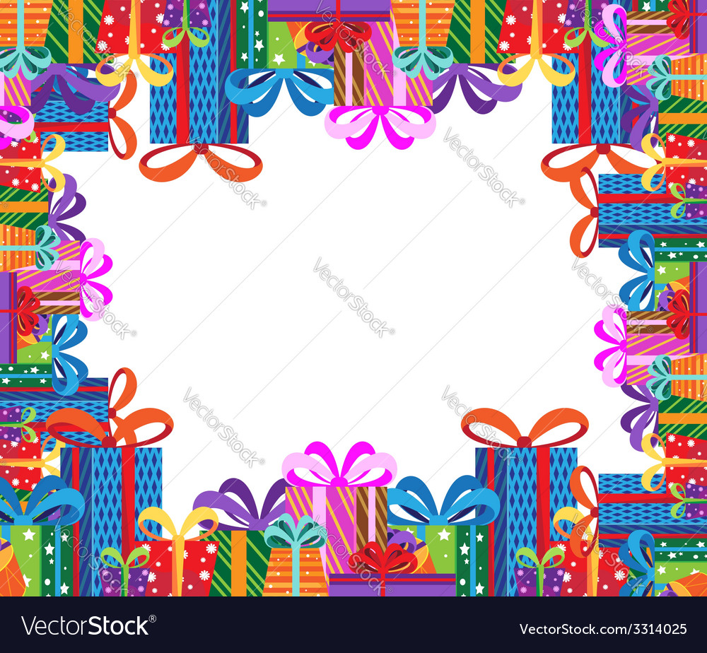 Gifts frame vector | Price: 1 Credit (USD $1)
