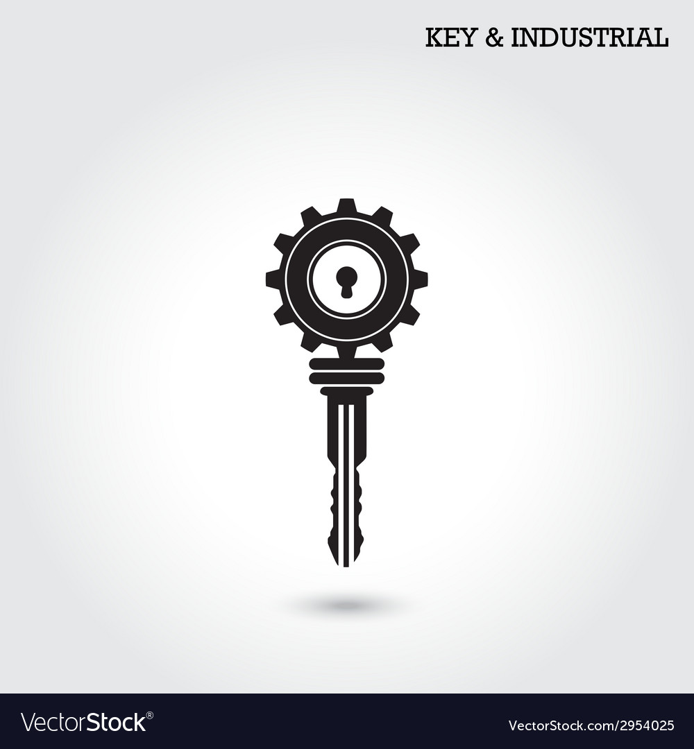 Key and industry sign vector | Price: 1 Credit (USD $1)