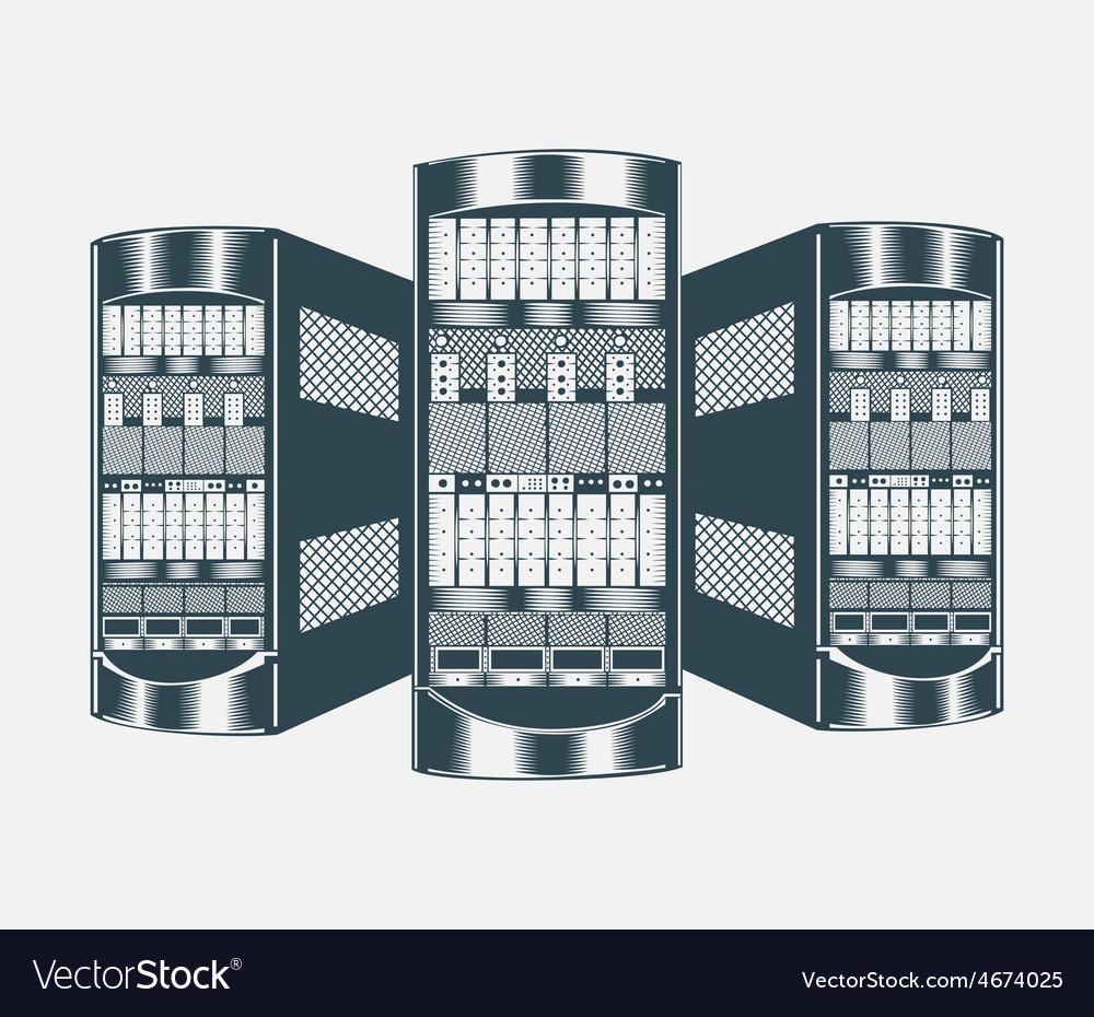 Network server vector | Price: 3 Credit (USD $3)