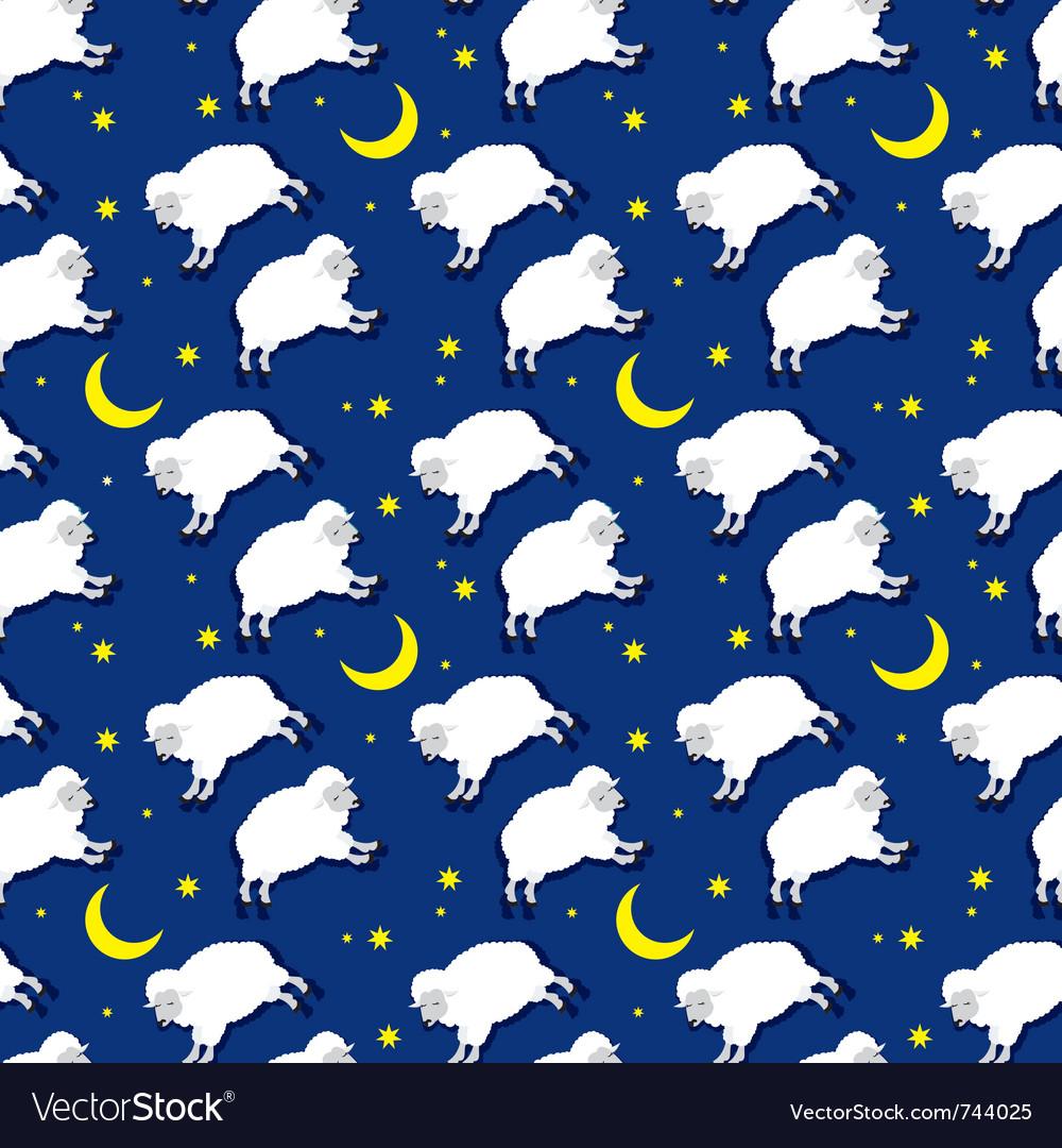 Seamless sleeping lambs pattern vector   Price: 1 Credit (USD $1)