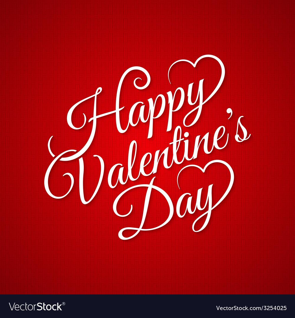 Valentine day vintage lettering background vector | Price: 1 Credit (USD $1)
