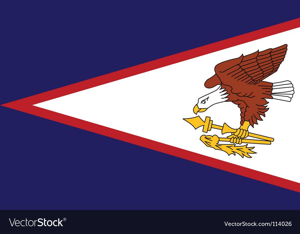 American samoa flag vector