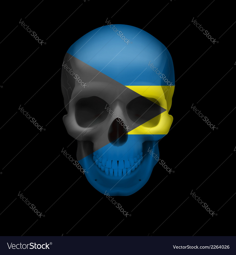 Bahamian flag skull vector | Price: 1 Credit (USD $1)