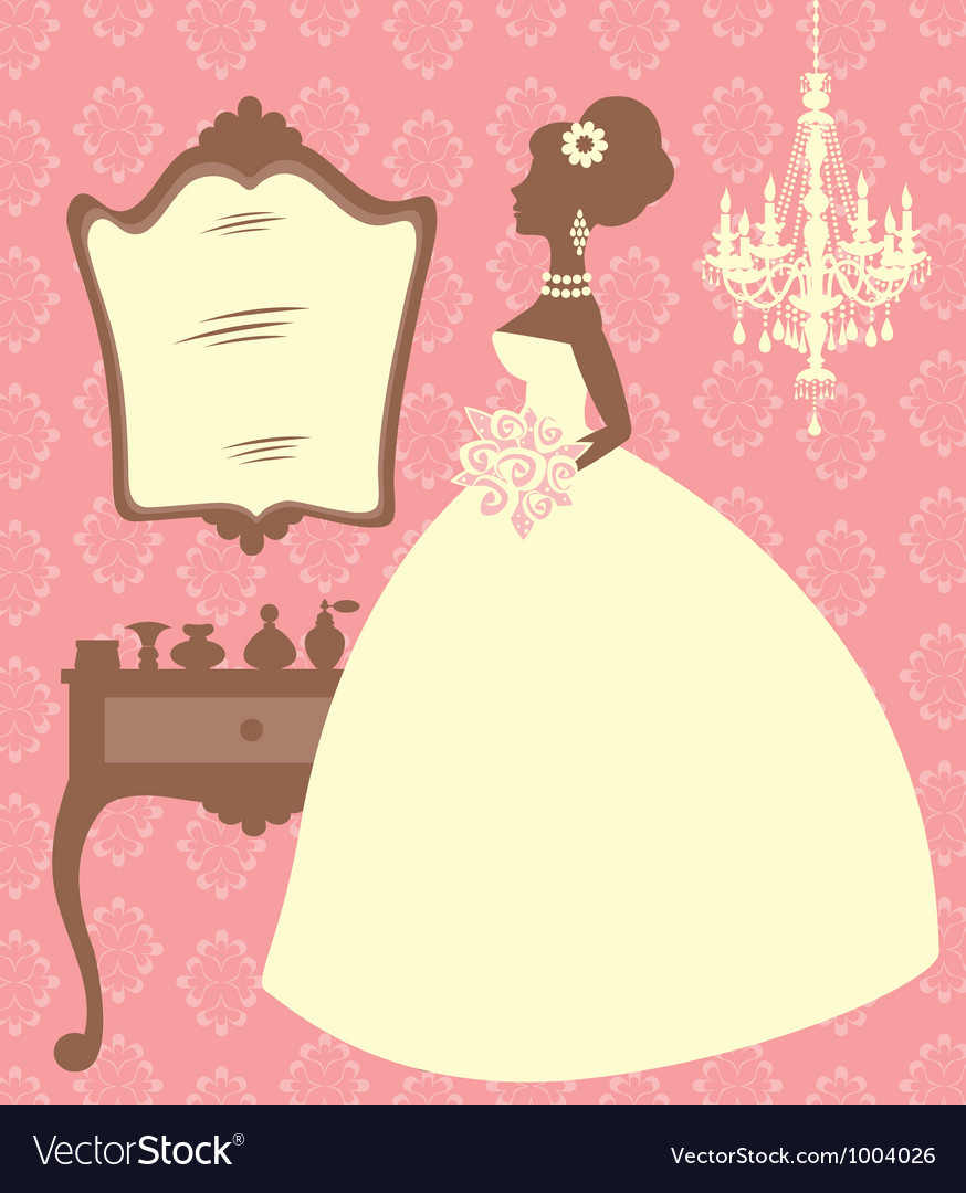 Bride in dressing room vector | Price: 1 Credit (USD $1)