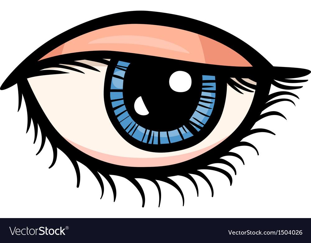 Eye clip art cartoon vector | Price: 1 Credit (USD $1)