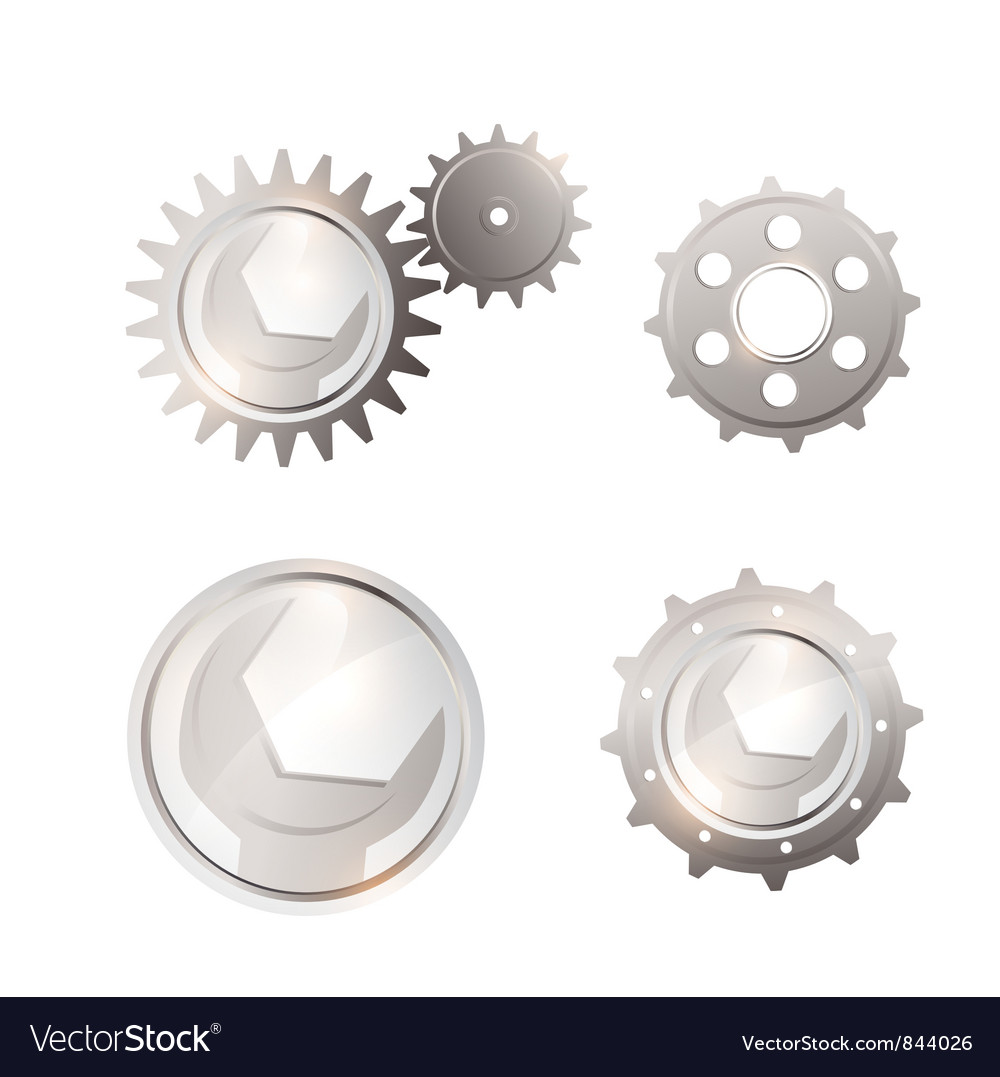 Gear system set vector | Price: 1 Credit (USD $1)