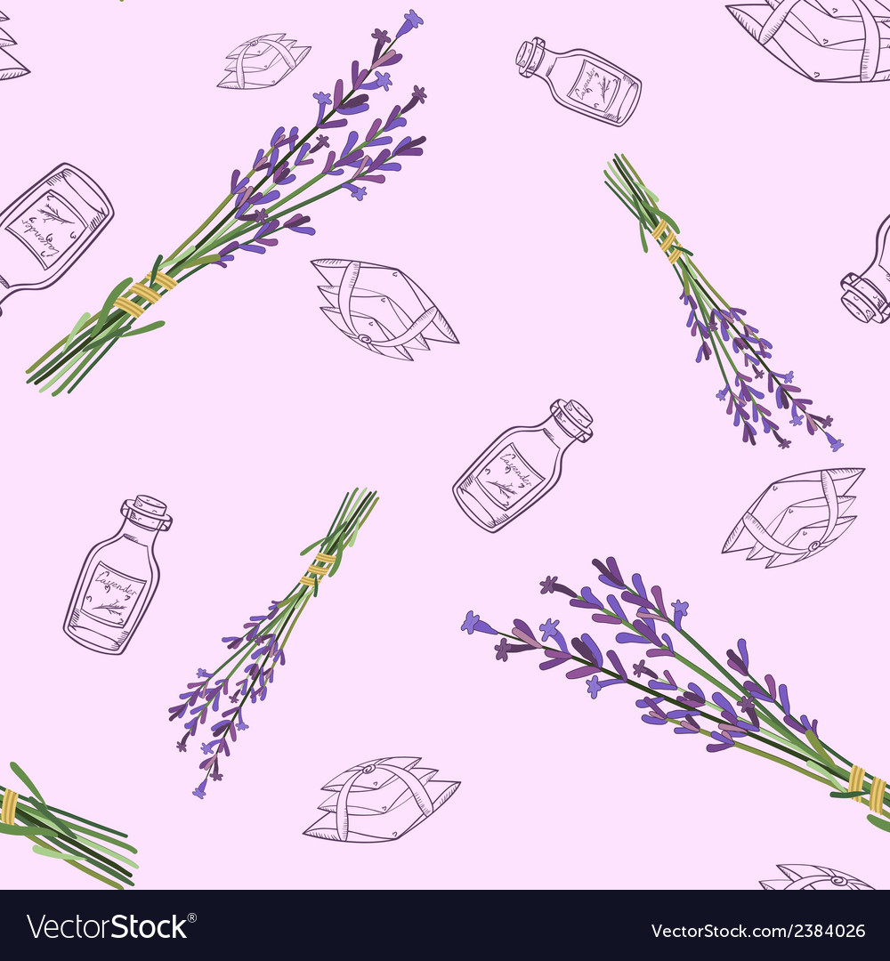 Seamless pattern with lavender vector | Price: 1 Credit (USD $1)