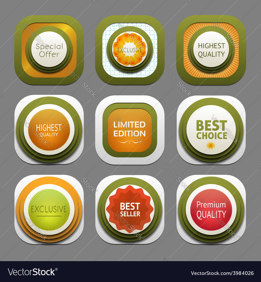 Set of modern design labels eps 10 vector | Price: 1 Credit (USD $1)