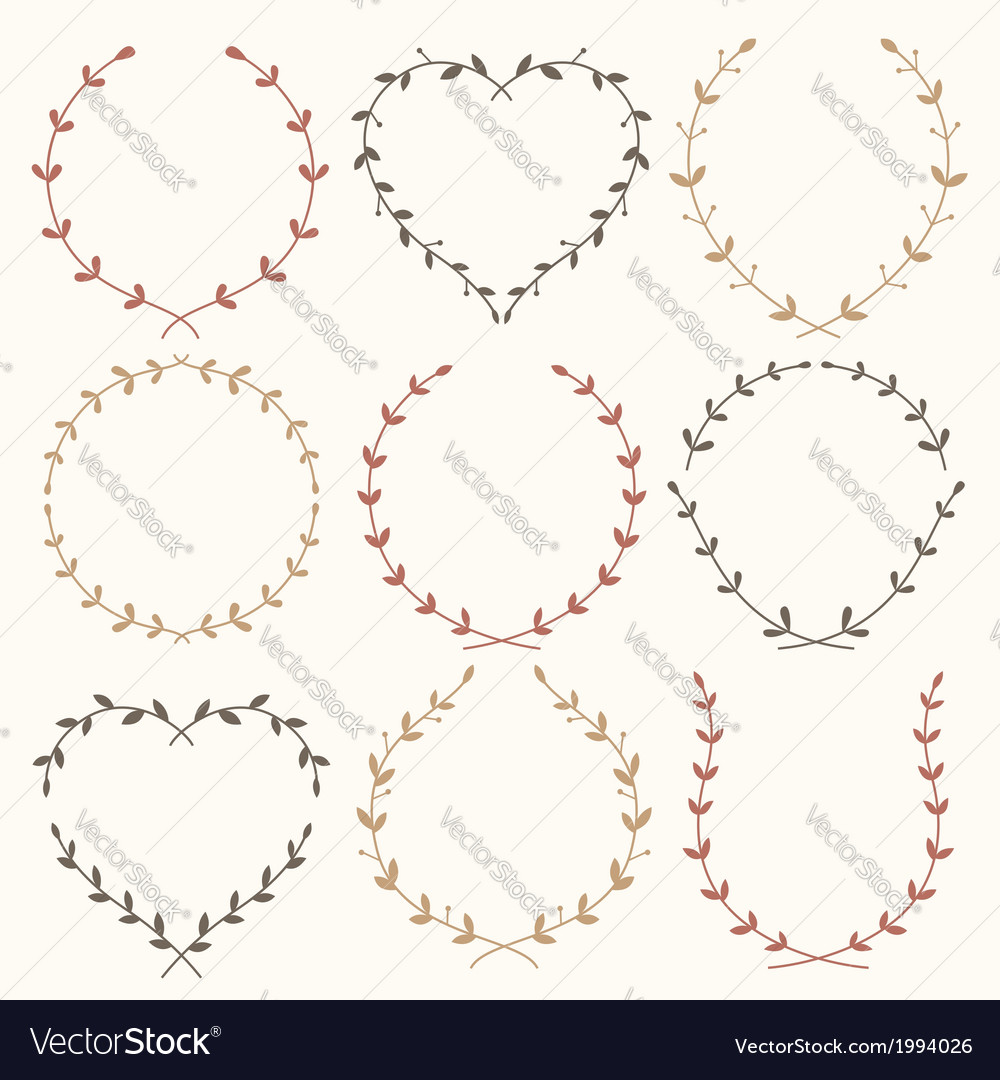 Wreaths vintage vector | Price: 1 Credit (USD $1)
