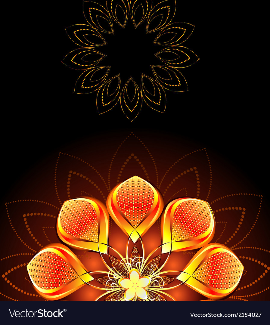 Abstract bright flower vector | Price: 1 Credit (USD $1)