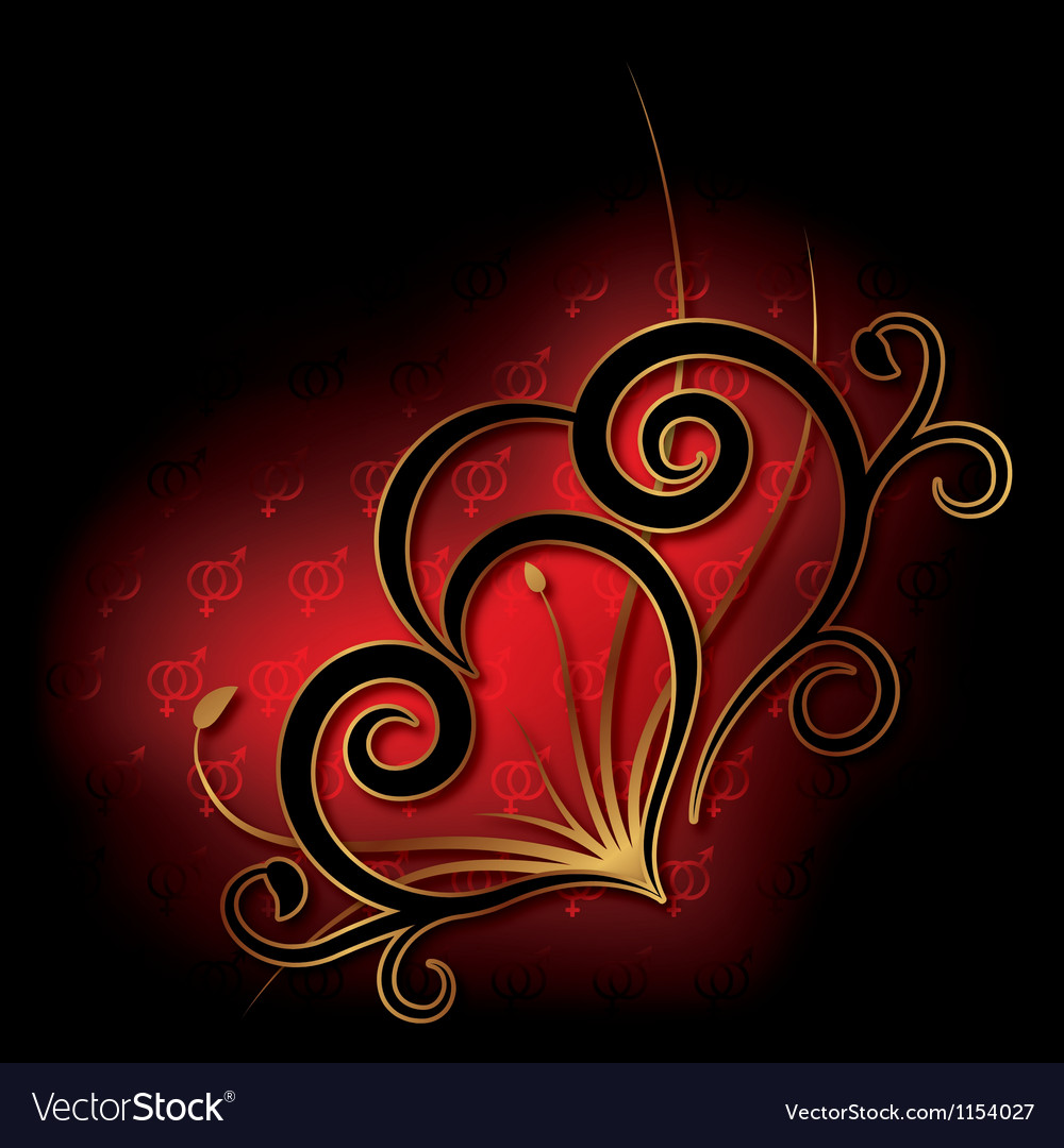Abstract with heart valentines day card vector | Price: 1 Credit (USD $1)