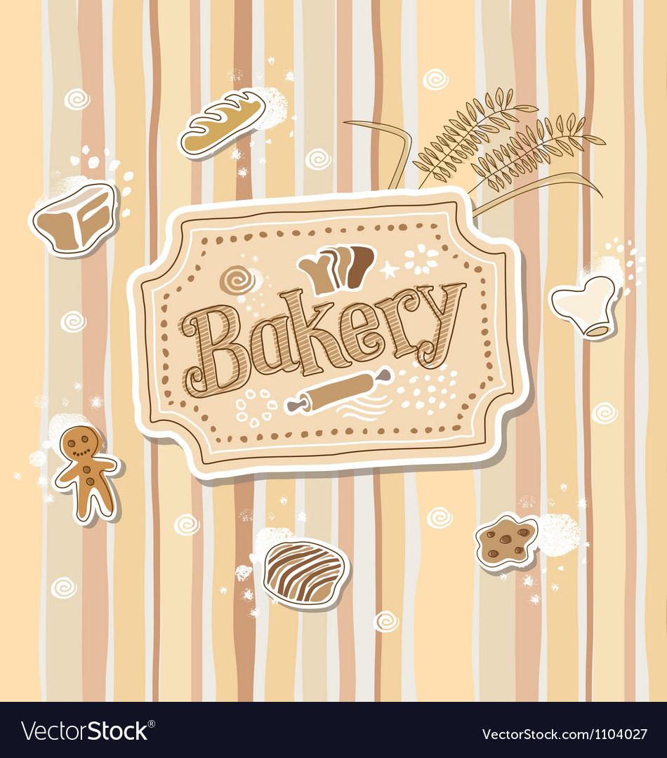 Bakery label doodle sketch vector | Price: 1 Credit (USD $1)