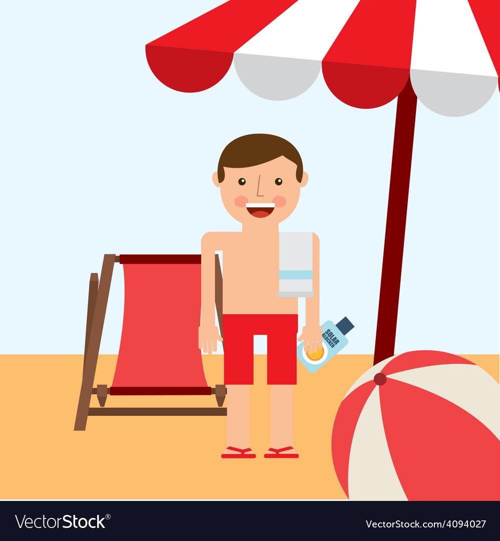 Beach vacations vector | Price: 1 Credit (USD $1)