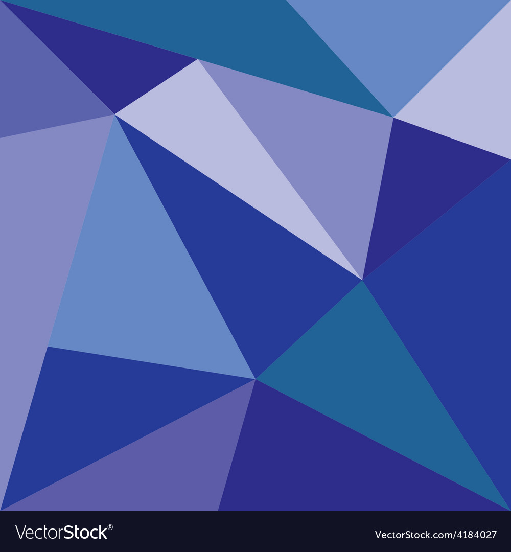 Blue triangle flat design background vector | Price: 1 Credit (USD $1)
