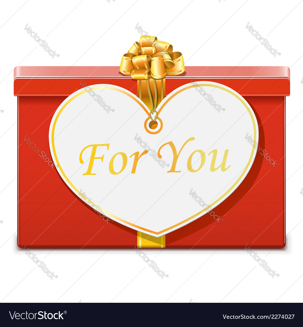Gift with label vector | Price: 1 Credit (USD $1)