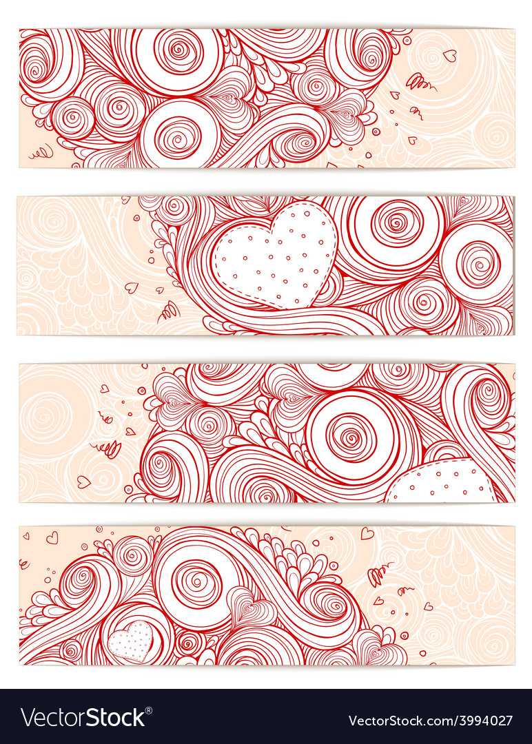 Holiday doodle background set of cards vector | Price: 1 Credit (USD $1)