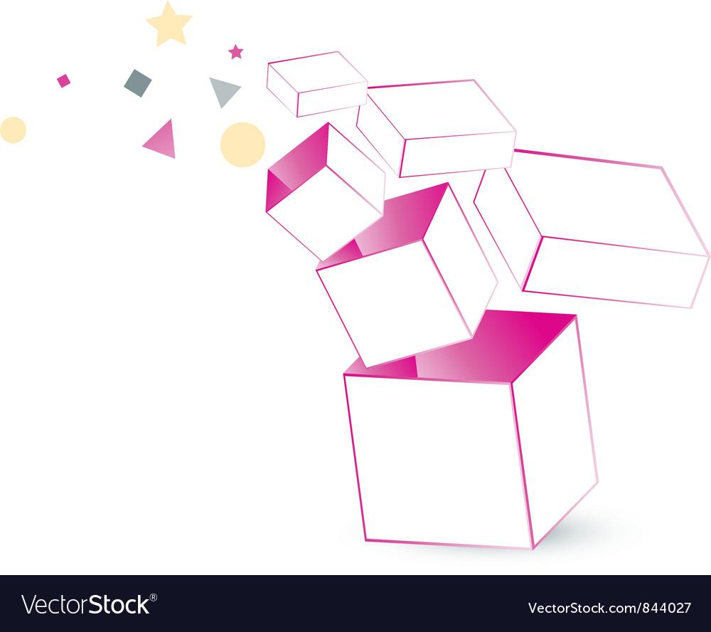 Magic box packaging vector | Price: 1 Credit (USD $1)