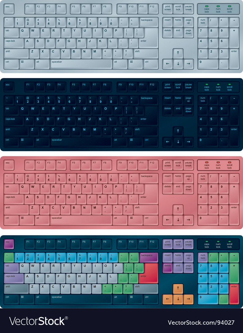 Pc keyboards vector | Price: 1 Credit (USD $1)