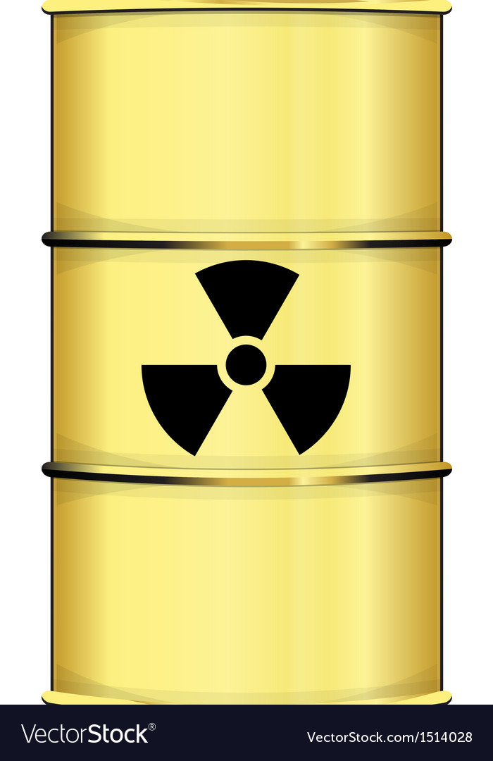 Barrel with radiation sign vector | Price: 1 Credit (USD $1)