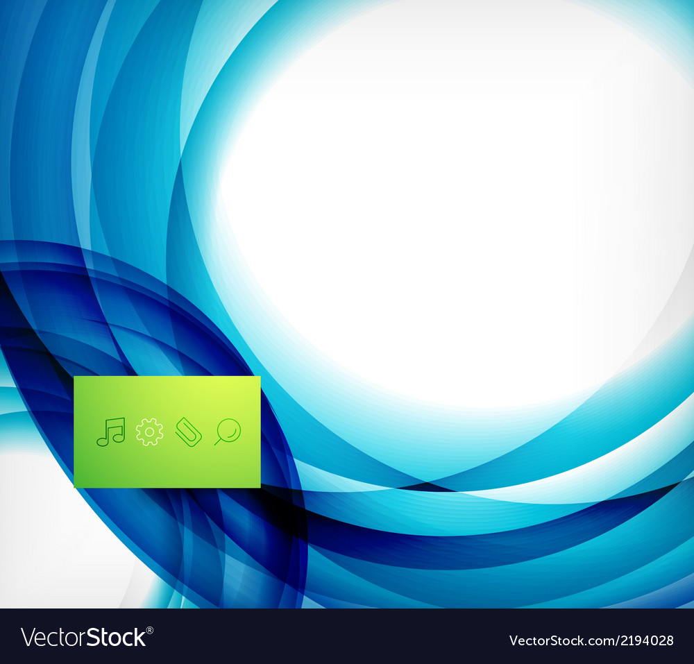 Blue swirl wave abstract design template vector | Price: 1 Credit (USD $1)