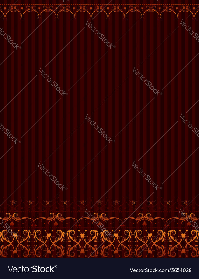 Brown background with ornamental border vector | Price: 1 Credit (USD $1)