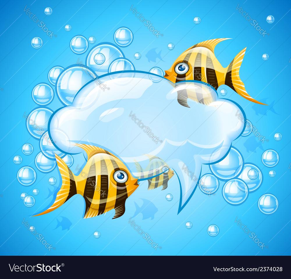 Bubbles cloud in aquarium vector | Price: 1 Credit (USD $1)