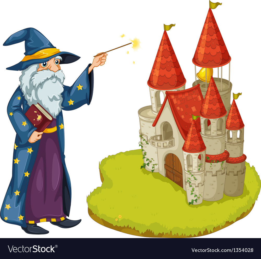 Castle wizard vector | Price: 1 Credit (USD $1)