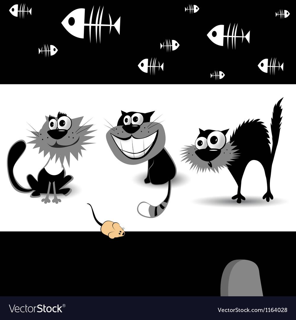 Cats black vector | Price: 1 Credit (USD $1)