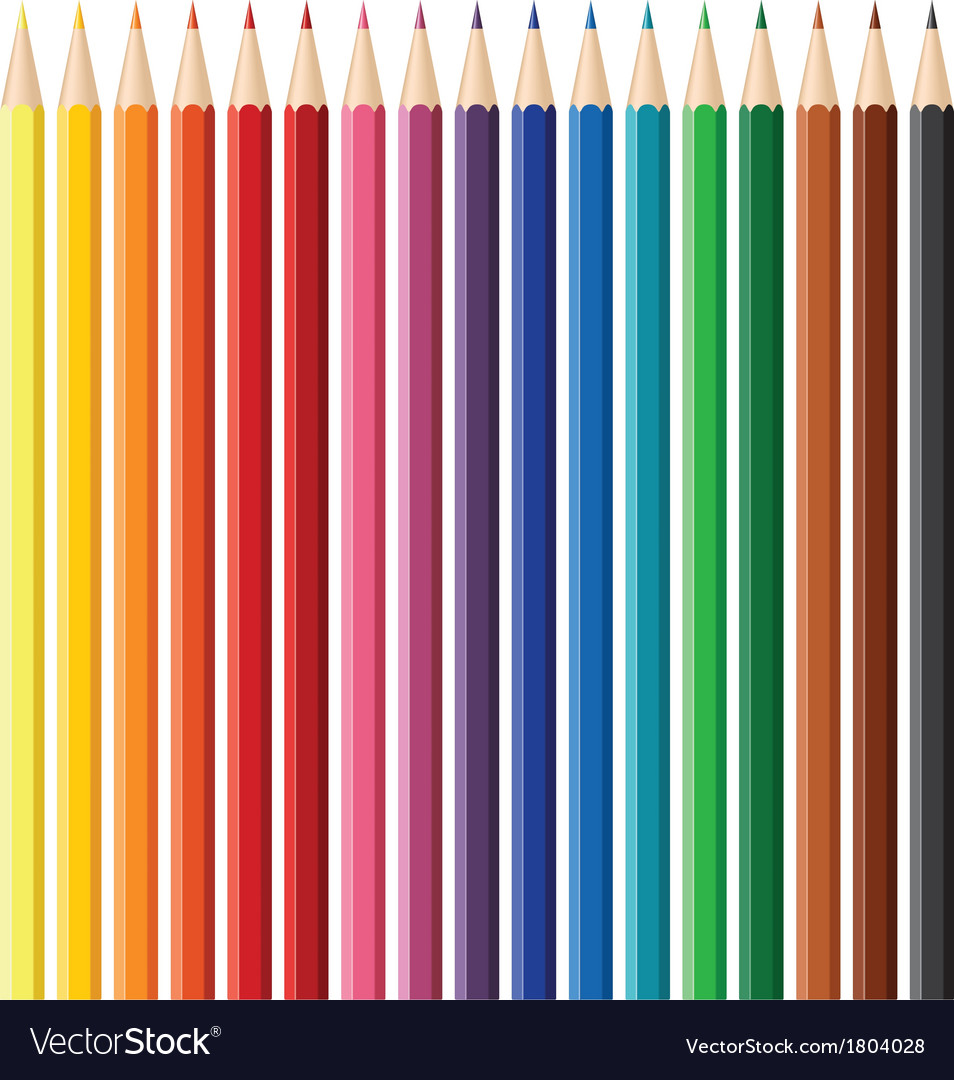 Colour pencil set vector | Price: 1 Credit (USD $1)
