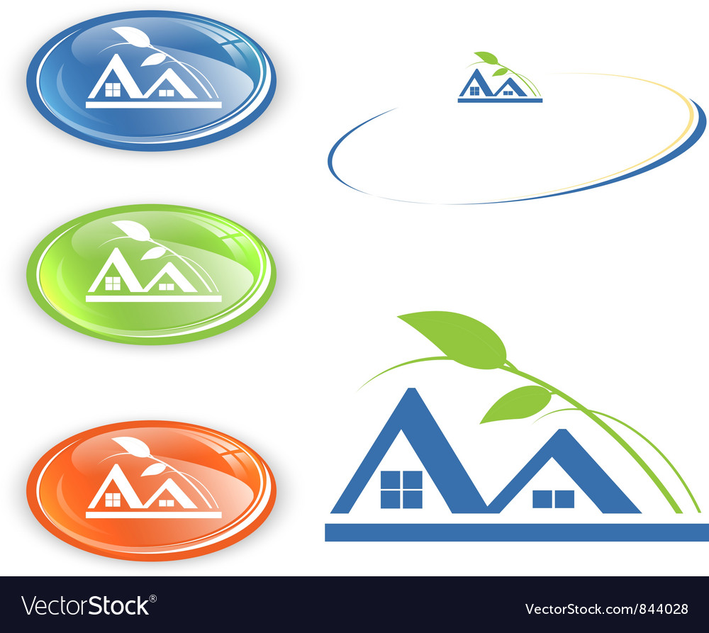 Cottage or camping emblem vector | Price: 1 Credit (USD $1)