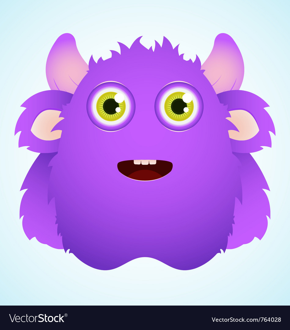 Cute furry monster vector | Price: 3 Credit (USD $3)