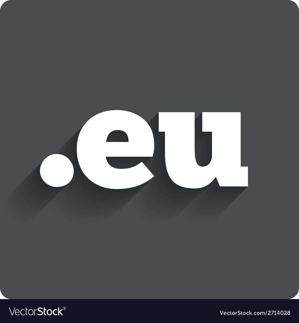 Domain eu sign icon top-level internet domain vector | Price: 1 Credit (USD $1)