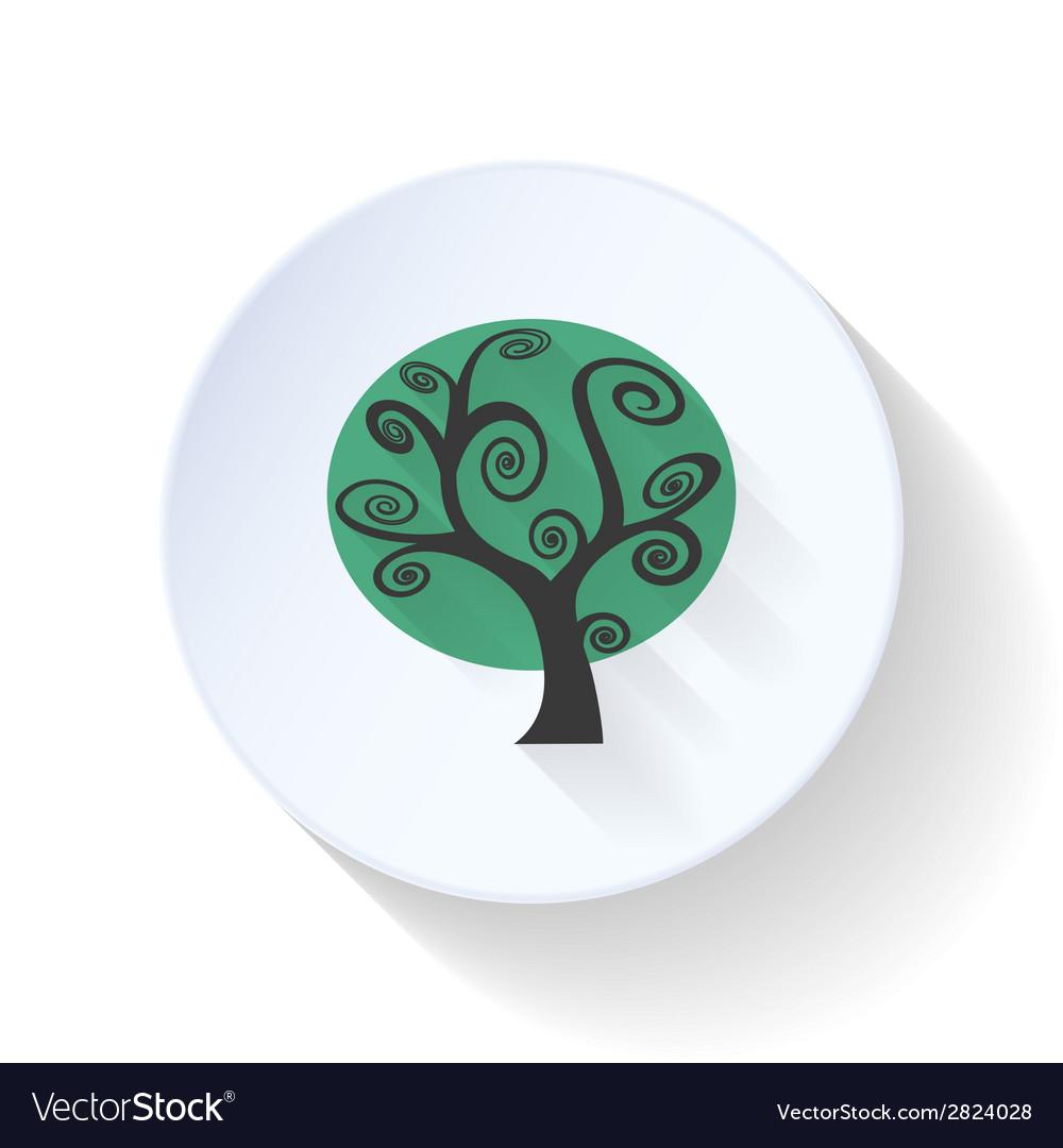 Gloomy tree flat icon vector | Price: 1 Credit (USD $1)