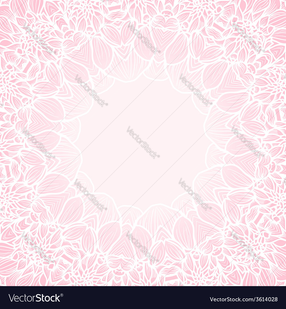 Round frame - vintage floral wreath vector | Price: 1 Credit (USD $1)