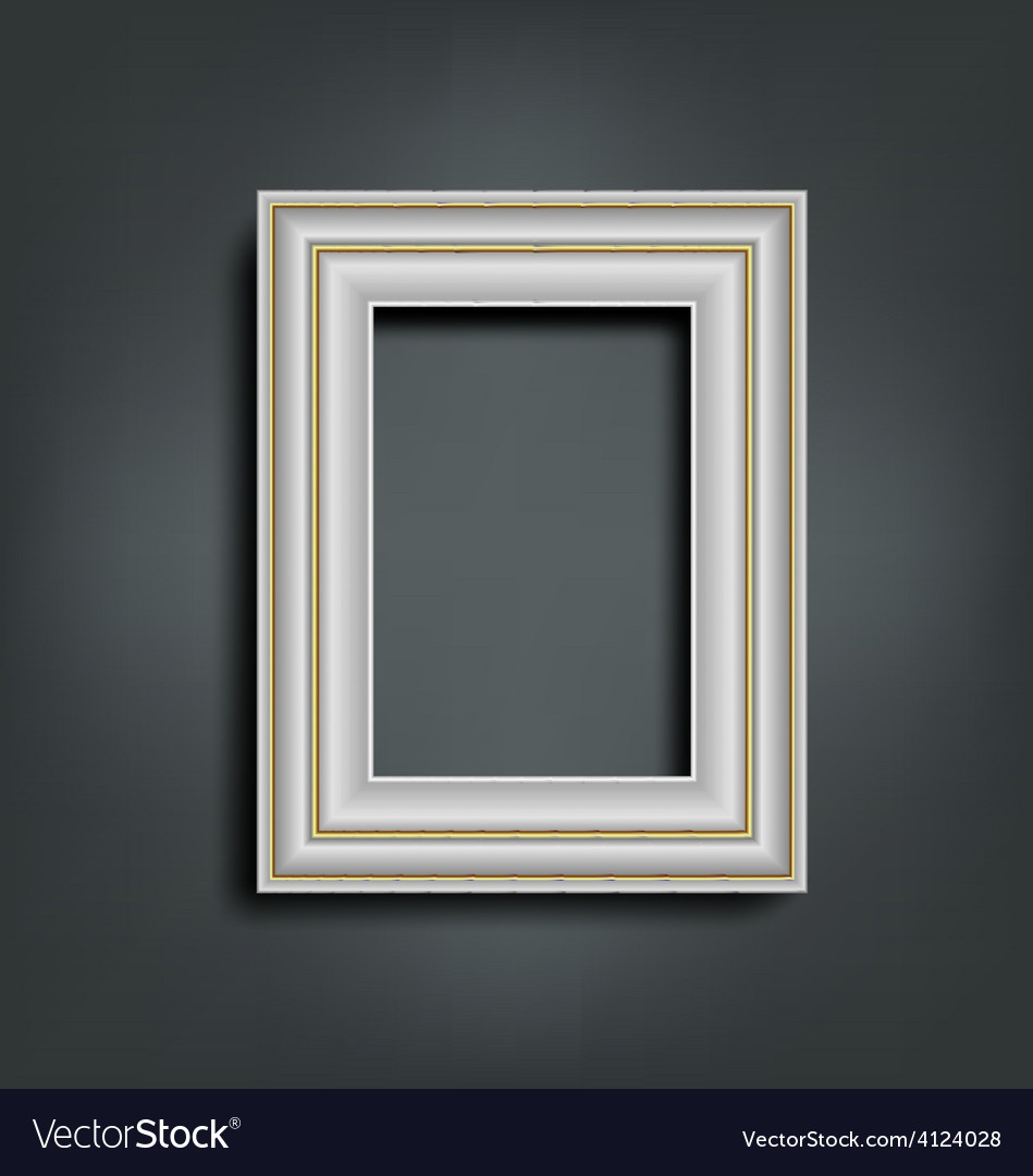 Silver carved frame on gray vector | Price: 1 Credit (USD $1)