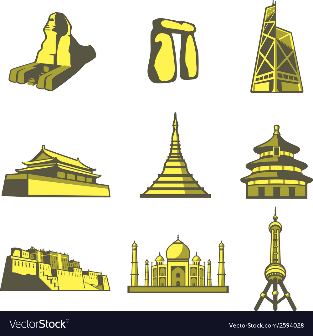Tourist attraction07 vector | Price: 1 Credit (USD $1)
