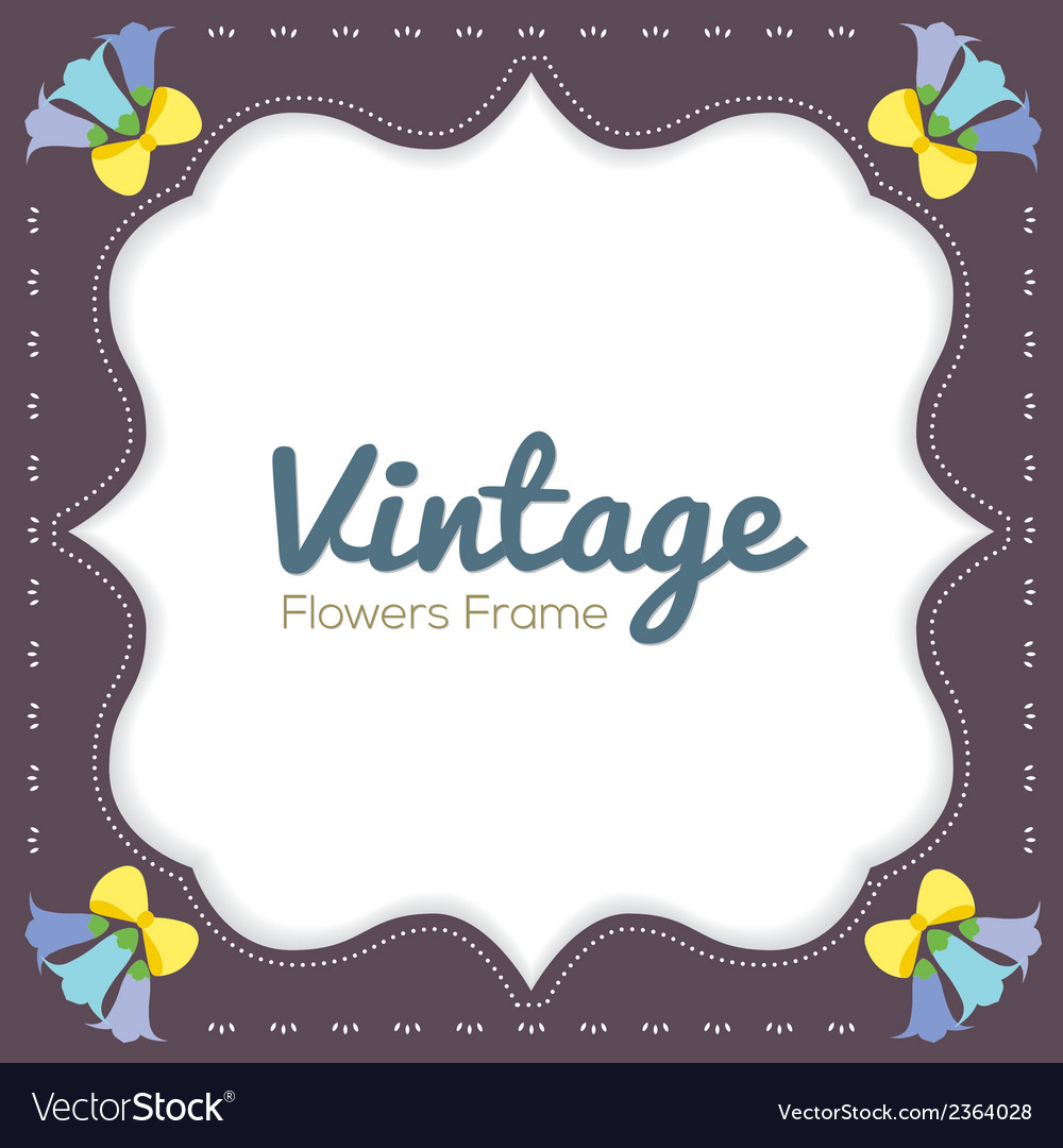 Vintage flowers border vector | Price: 1 Credit (USD $1)