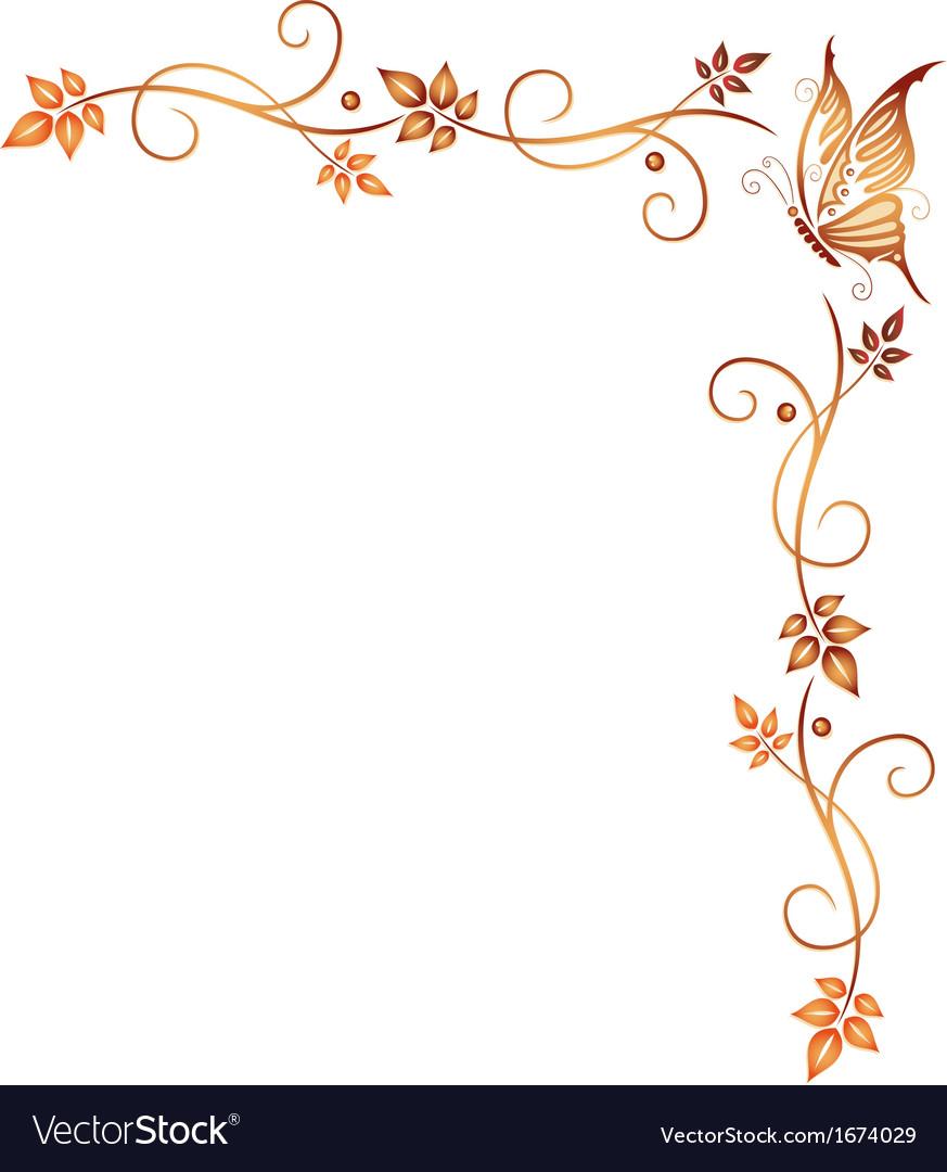 Autumn border vector | Price: 1 Credit (USD $1)