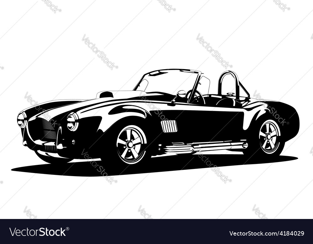Classic sport silhouette car ac shelby cobra vector | Price: 1 Credit (USD $1)