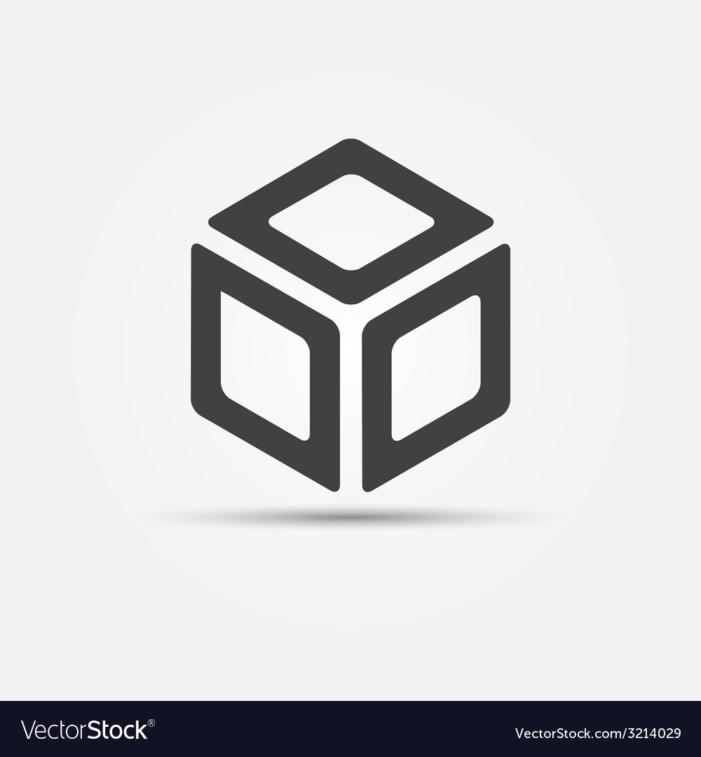 Cube icon vector | Price: 1 Credit (USD $1)
