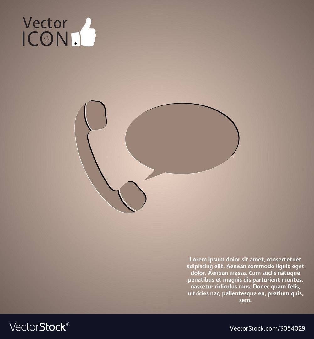 The handset of the phone as a button vector | Price: 1 Credit (USD $1)