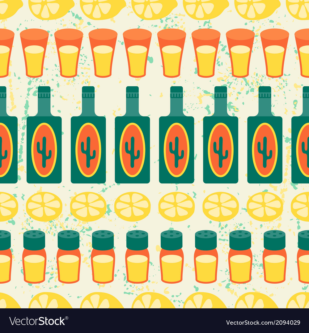Mexican seamless pattern with tequila in native vector | Price: 1 Credit (USD $1)