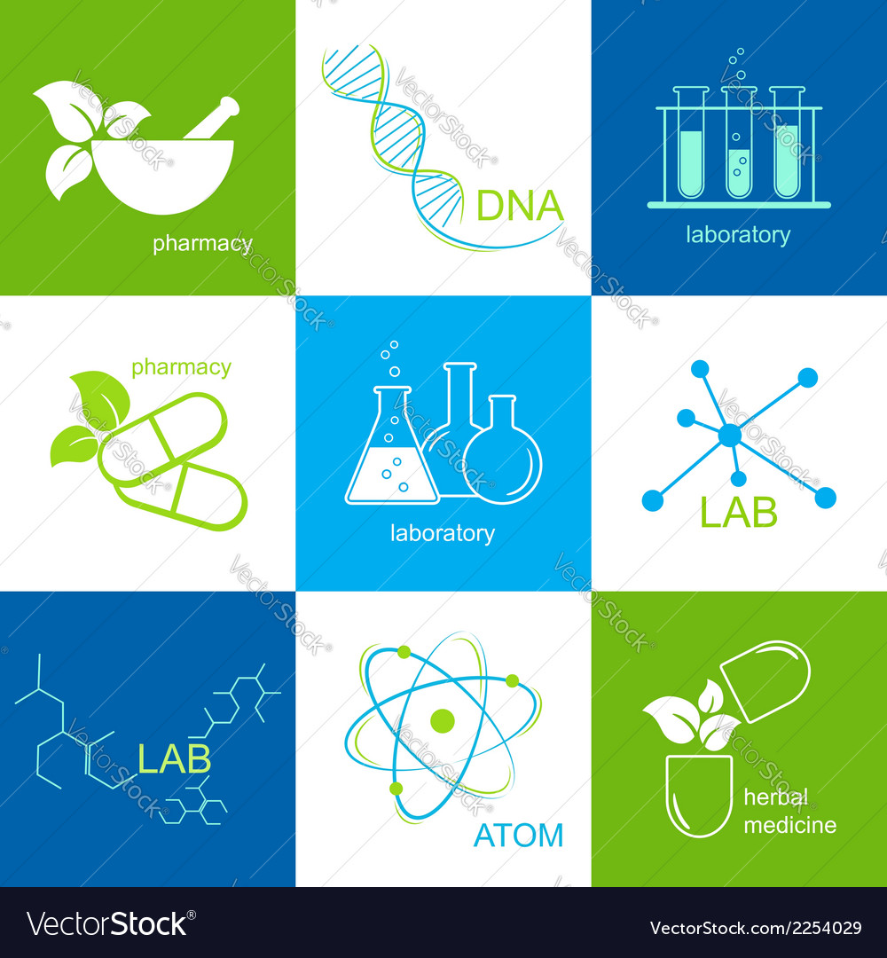 Pharmaceutical and lab icons vector | Price: 1 Credit (USD $1)