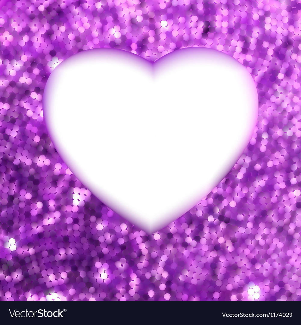 Purple frame in the shape of heart eps 8 s vector | Price: 1 Credit (USD $1)